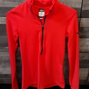 Nike pro dri-fit zip up pullover